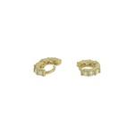 Brinco Argola Catilagem Zircônia Lesprit U9A030431 Dourado Cristal