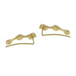 Brinco Ear Cuff Zircônia Lesprit U19K110461 Dourado Cristal