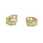 Brinco Argola Zircônia Lesprit U9A221521 Dourado Cristal
