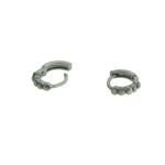 Brinco Argola Strass Lesprit U13A020701 Ródio Negro Hematite