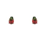 Brinco Zirconia Lesprit U18A020051 Ródio Negro Rainbow Verde e Rubi
