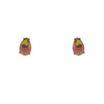 Brinco Zirconia Lesprit U18A020051 Ródio Negro Rainbow Amarelo e Rosa