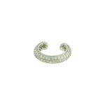 Brinco Piercing de Pressão Zircônia Lesprit LB23051 Ródio Cristal
