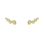 Brinco Ear Cuff Zircônia Lesprit LB20271WGL Dourado Cristal
