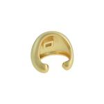 Brinco Piercing de Pressão Zircônia Lesprit LB23611 Dourado Cristal