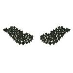 Brinco Zircônia Lesprit LB17871BOBK Ródio Negro Preto
