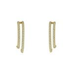Brinco Ear Hook Zircônia Lesprit 68115661 Dourado Cristal