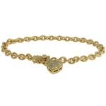 Pulseira Zircônia Lesprit 60068761 Dourado Cristal