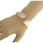Pulseira Bracelete Zircônia Lesprit 60092391 Dourado Cristal
