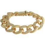 Pulseira Elo Zircônia Lesprit 60099121 Dourado Cristal