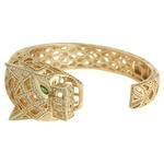 Pulseira Pantera Zircônia Lesprit 60102811 Dourado Cristal