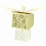 Anel Zircônia Lesprit 4207 Dourado Cristal