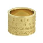 Anel Pai Nosso Metal Lesprit 00030 Dourado