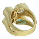 Anel Zircônia Lesprit 00047 Dourado Multicor