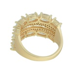 Anel Zircônia Lesprit U18K170661 Dourado Cristal
