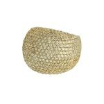 Anel Zircônia Lesprit LA03371WGL Dourado Cristal