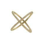 Anel Zircônia Lesprit LA03911GL Dourado Cristal