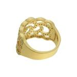 Anel Zircônia Lesprit LA07411WGL Dourado Cristal