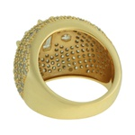 Anel Zircônia Lesprit LA10011 Dourado Cristal