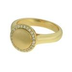 Anel Zircônia Lesprit LA10411WGL Dourado Cristal