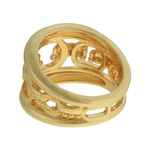 Anel Metal Lesprit LA10551GL Dourado
