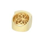Anel Zircônia Lesprit LA04431 Dourado Cristal