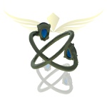 Anel Zirconia Lesprit LA03181 Ródio Negro Cristal Azul