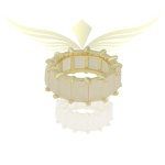 Anel Riviera Zircônia Lesprit LA01641 Dourado Rosa Leitosa