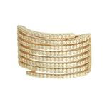 Anel Zircônia Lesprit 60102441 Dourado Cristal