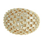 Anel Zircônia Lesprit 60102561 Dourado Cristal