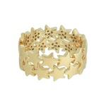 Anel Estrela Zircônia Lesprit 68136481 Dourado Cristal