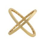 Anel X Zircônia Lesprit 60005361 Dourado Cristal