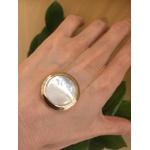 Colar Madrepérola Lesprit U19A110381 Dourado Branco