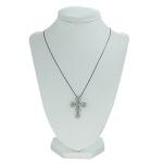 Colar Crucifixo Lesprit WBK Ródio Negro Cristal