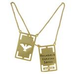 Escapulário Metal Zircônia Lesprit 68106091 Dourado Cristal