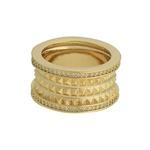 Anel Tubo Zircônia Lesprit 60101011 Dourado Cristal