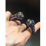 Pulseira Pantera Zircônia Lesprit 60105341 Dourado Azul