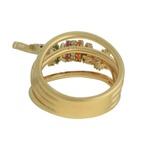 Anel Penduricalhos Zircônia Lesprit 68118961 Dourado Multicor