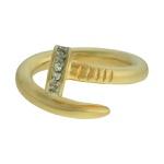 Anel Zircônia Lesprit DAE6721 Dourado Cristal