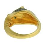Anel Zircônia Lesprit DAE8741 Dourado Preto