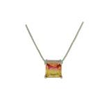 Conjunto Zirconia Lesprit U18A010261 Ródio Rainbow Rosa e Amarelo