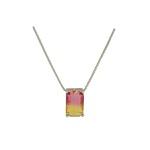 Conjunto Zirconia Lesprit U18A020041 Ródio Rainbow Rosa e Amarelo