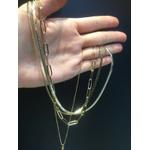 Colar Corrente Duplo Metal Lesprit HSC5061 Dourado