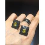 Brinco Zircônia Lesprit LB12291BOYEBK Ródio Negro Preto E Yellow Fancy