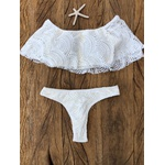 Conjunto Cropped Ciganinha Larissa Renda OFF