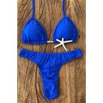 Biquíni Cortininha Larissa Azul Bic