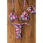 Biquíni Cortininha Butterfly Pink