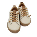 Tênis Infantil Masculino Charles - Off White/ Capuccino