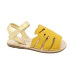 Sandália Infantil Feminino Eva - Amarelo/ Dourado