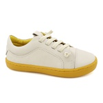 Tênis Infantil Masculino Diego - Off White/ Amarelo
